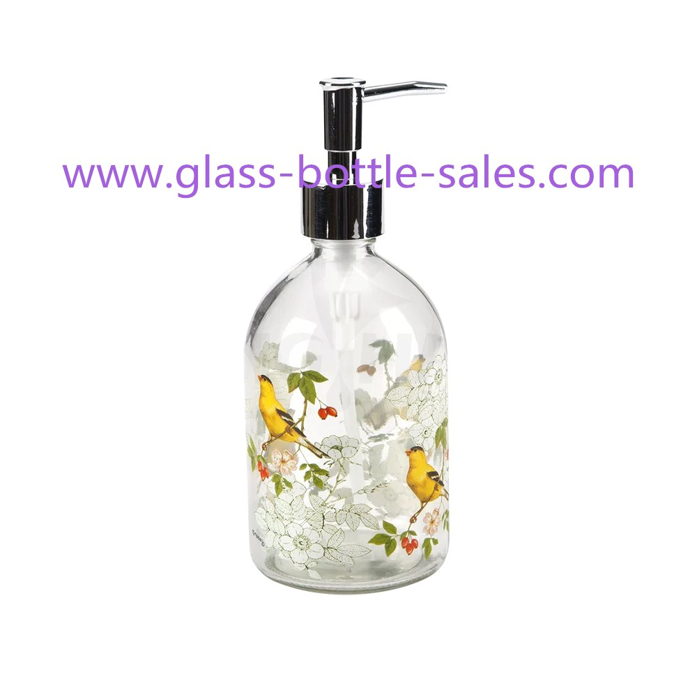 500ml New Item Empty Hand Wash Glass Bottle