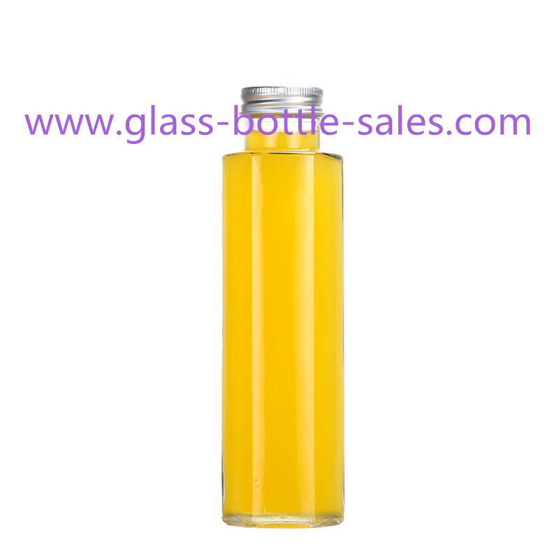 350ml Hexagonal Glass Juice Bottle